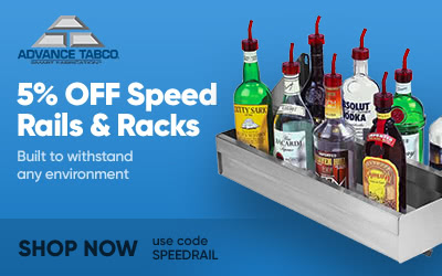 Advance Tabco Speed Rails and Racks on Sale