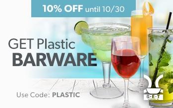 GET Plastic Barware