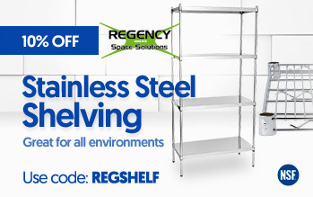Regency Stainless Steel Shelving