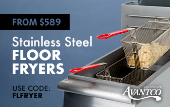 Avantco Stainless Steel Floor Fryers