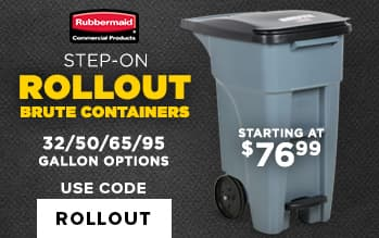 Rubbermaid Rollout Brute Containers