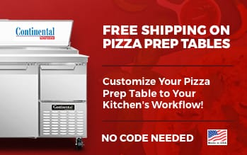 Continental Pizza Prep Refrigerators