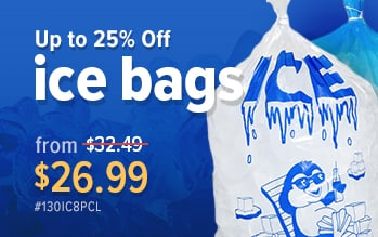 Choice Ice Bags on Sale now!