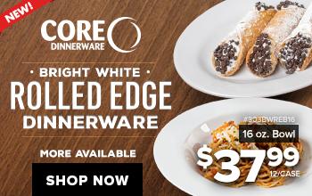 Core Rolled Edge Dinnerware
