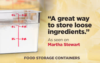 Cambro Food Storage Containers as seen on MarthaStewart.com