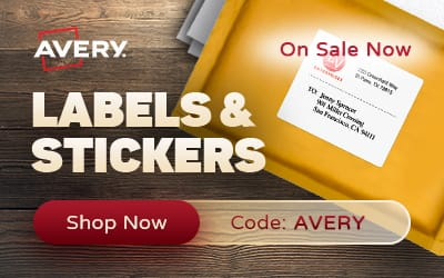 Avery Labels & Stickers - On Sale Now - Shop Now - Code: Avery