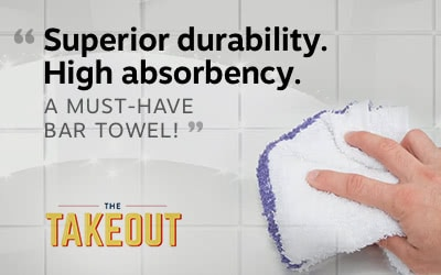 A must have bar towel as featured on Takeout