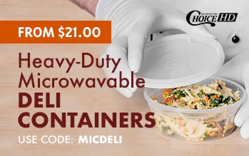 Choice Heavy-Duty Microwavable Deli Containers