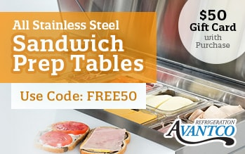 Avantco Sandwich Tables
