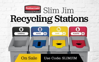 Rubbermaid SlimJim Trash Cans