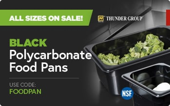 Black Polycarbonate Food pans