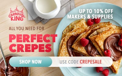 Carnival King Crepe Makers and Supplies - Up to 10% Off - Use Code CREPESALE
