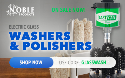 Noble Genie and Last Call - Electric Glass Washers and Polishers