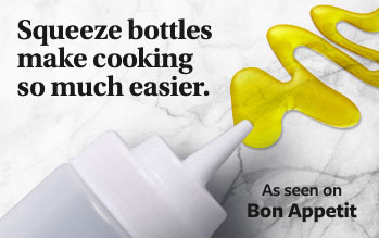 Squeeze Bottles Make Cooking So Much Easier - As seen on Bon Appetit