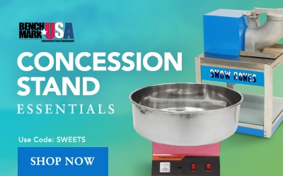 Save on Benchmark Concession Stand Essentials with code SWEETS
