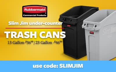 Rubbermaid Slim Jim Trash Cans