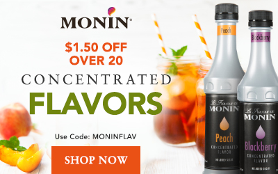 Monin Flavoring Syrups - Save $1.50 on Concentrated Flavors with code MONINFLAV