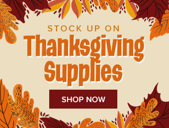 Stock up for Thanksgiving