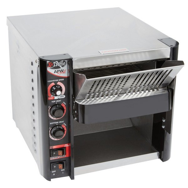 """APW Wyott XTRM-2 10"""" Wide Conveyor Toaster with 1 1/2"""" Opening - 208V Missing temperature knob"""