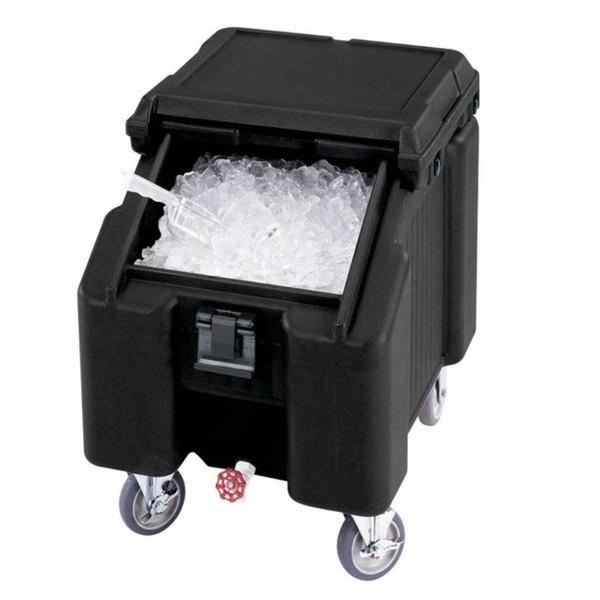 Cambro ICS100L110 SlidingLid™ Black Portable Ice Bin - 100 lb. Capacity