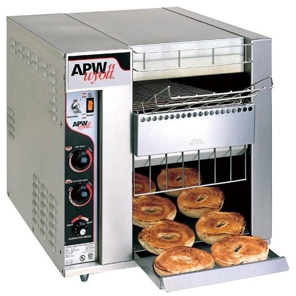"""APW Wyott BT-15-3 Bagel Master Conveyor Toaster with 3"""" Opening - 208V"""