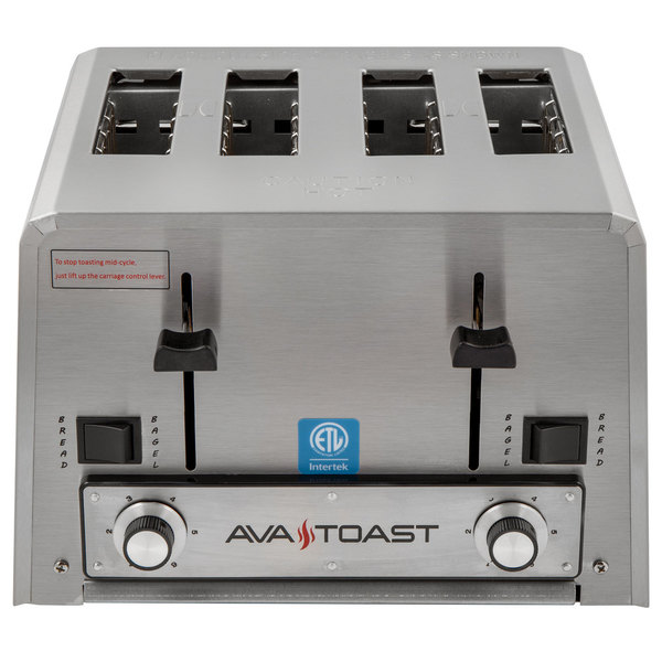 Avatoast THD27208 Heavy-Duty Switchable Bread and Bagel 4-Slice Commercial Toaster - 208V Scratch and Dent