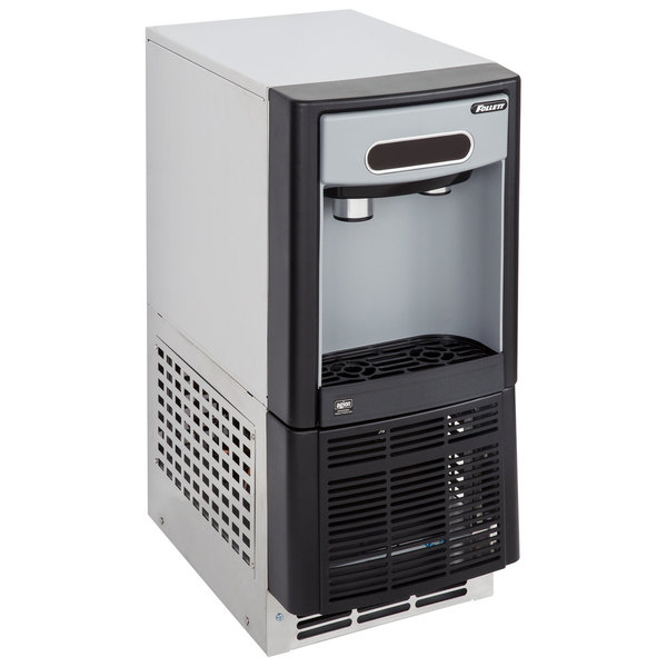 """Follett 7UC100A-IW-CF-ST-00 7 Series 14 5/8"""" Air Cooled Chewblet Undercounter Ice Maker and Water Dispenser with Filter - 7 lb."""