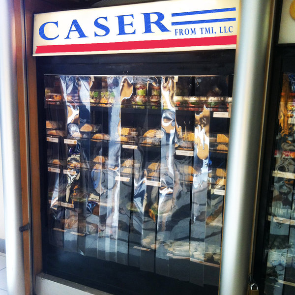 """Curtron C-96 Caser 48"""" x 96"""" Display Cooler Strip Curtain Scratch and Dent"""
