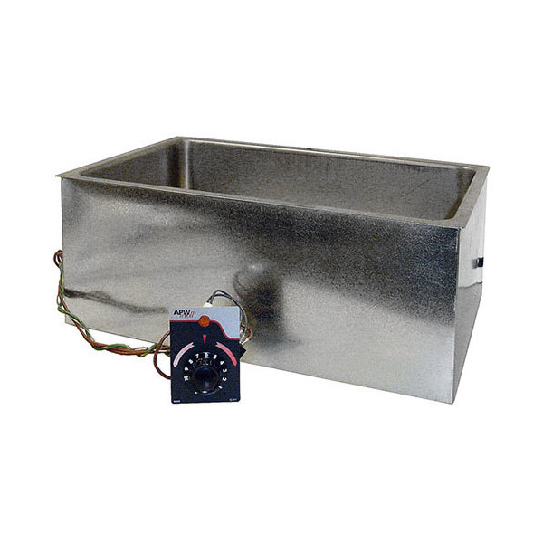 """APW Wyott BM-80D Bottom Mount 12"""" x 20"""" Insulated High Performance Hot Food Well with Drain - 208/240V"""