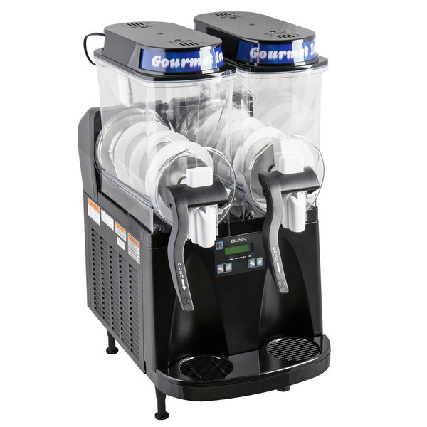 Bunn 34000.0515 Ultra-2 HP LAFI High Performance Black Double 3 Gallon Liquid Autofill Slushy / Granita Frozen Drink Machine - 120V Scratch and Dent