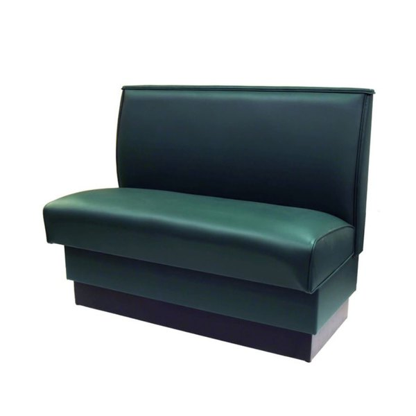 """American Tables & Seating QAS-36-FORESTGREEN 46"""" Forest Green Plain Single Back Fully Upholstered Booth"""