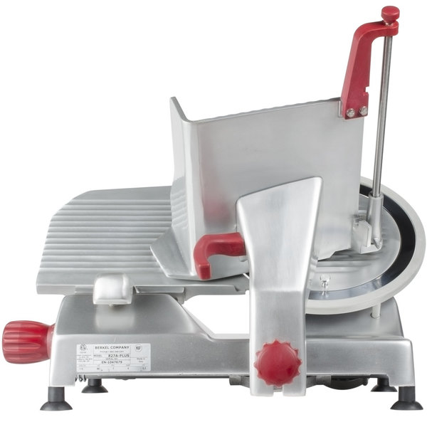 "Berkel 827A-PLUS 12"" Manual Gravity Feed Meat Slicer - 1/2 hp"