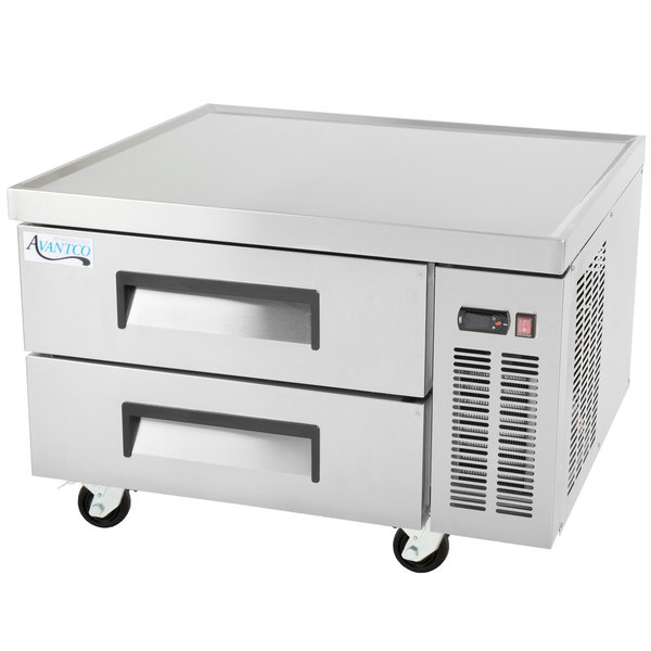 """Avantco CBE-36-HC 36"""" 2 Drawer Refrigerated Chef Base Scratch and Dent"""