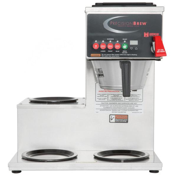 Grindmaster B-3WL PrecisionBrew Digital 64 oz. Automatic Coffee Brewer with 3 Warmers - Left Side