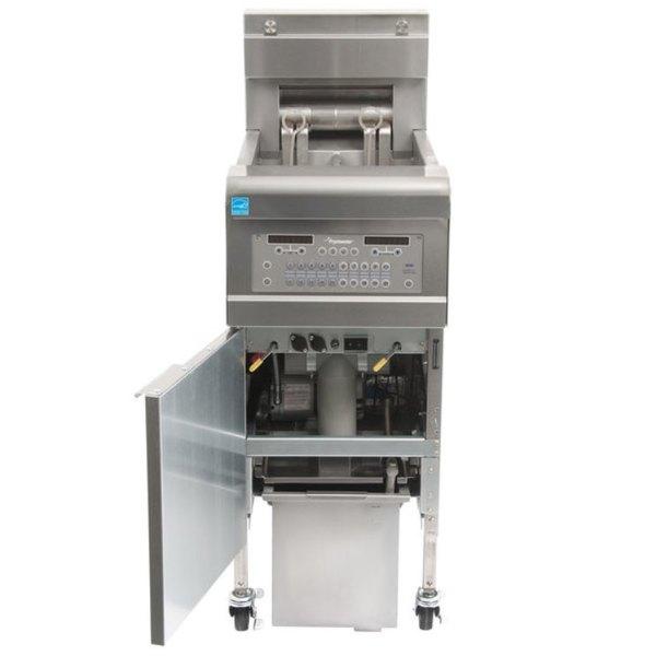 Frymaster FPGL130-2C Natural Gas 30 lb. Split Pot Floor Fryer - 75,000 BTU Scratch and Dent
