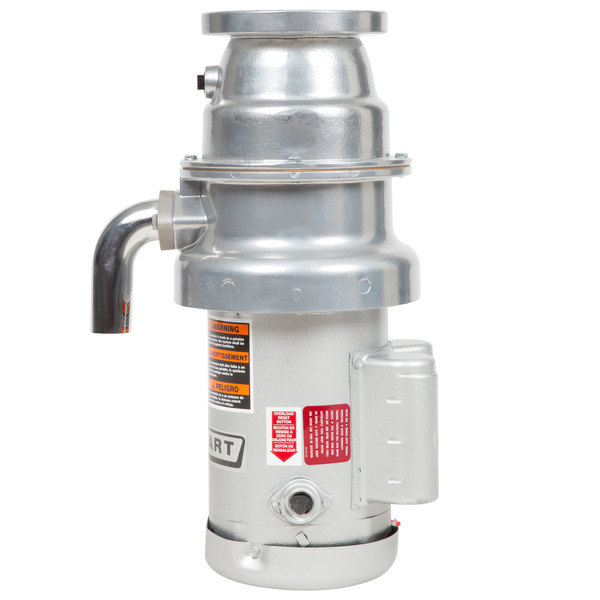 Hobart FD4/75-1 Commercial Garbage Disposer with Short Upper Housing - 3/4 hp, 208-240/480V Scratch and Dent