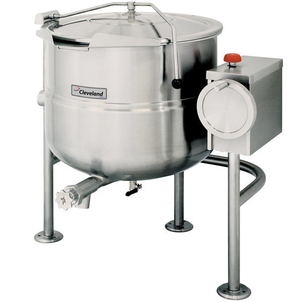 Scratch and Dent Cleveland KDL-40-T 40 Gallon Tilting 2/3 Steam Jacketed Direct Steam Kettle Main Image 1