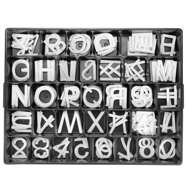 "Scratch and Dent Aarco HF2.0 2"" Helvetica Universal Single Tab Letter and Number Set - 160 Characters Main Image 1"