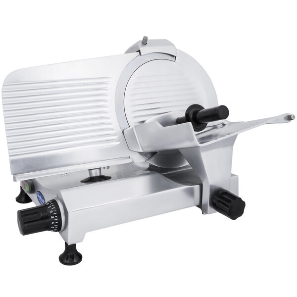 """Scratch and Dent Globe Chefmate C12 12"""" Manual Gravity Feed Slicer - 1/3 hp Main Image 1"""