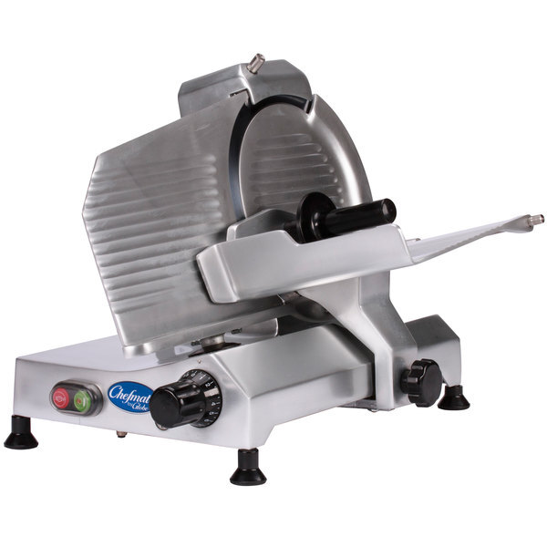 """Scratch and Dent Globe Chefmate C10 10"""" Manual Gravity Feed Slicer - 1/4 hp Main Image 1"""