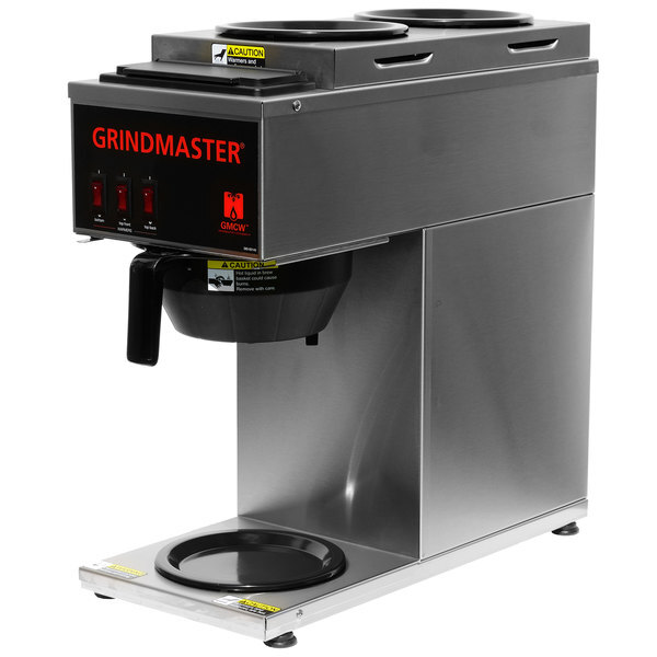Scratch and Dent Grindmaster CPO-3P-15A Portable Pourover Coffee Brewer with 2 Top and 1 Bottom Warmer Main Image 1