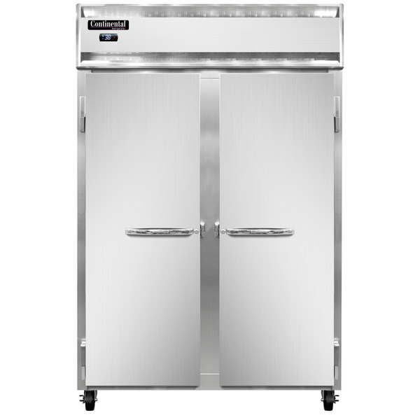 """Scratch and Dent Continental Refrigerator 2R-N 52"""" Solid Door Reach-In Refrigerator Main Image 1"""