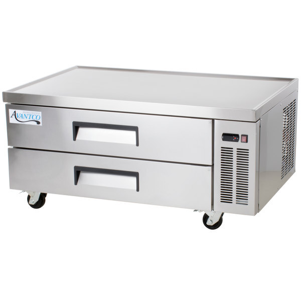 """Scratch and Dent Avantco CBE-52-HC 52"""" 2 Drawer Refrigerated Chef Base Main Image 1"""