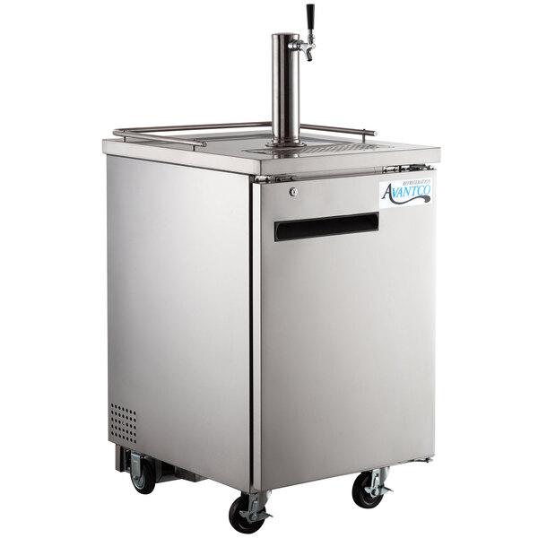 Scratch and Dent Avantco UDD-1-HC-S Single Tap Kegerator Beer Dispenser - Stainless Steel, (1) 1/2 Keg Capacity Main Image 1