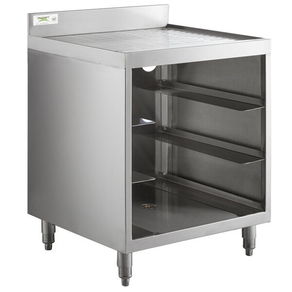 """Scratch and Dent Regency Stainless Steel Corrugated Top Glass Rack Storage Unit - 23"""" x 24"""" Main Image 1"""
