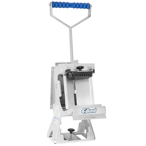 "Scratch and Dent Edlund FDWW-038 Titan Max-Cut Manual 3/8"" Dicer with Wall Mount Base Main Image 1"