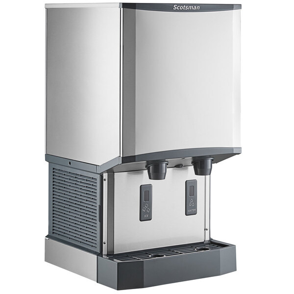 Scratch and Dent Scotsman HID540W-1 Meridian Countertop Water Cooled Ice Machine and Water Dispenser - 40 lb. Bin Storage Main Image 1