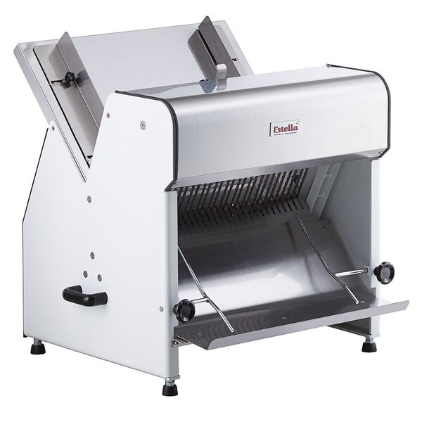 """Scratch and Dent Estella Countertop Electric Bread Slicer - 5/8"""" Cutting Width - 110V, 1/4 hp Main Image 1"""