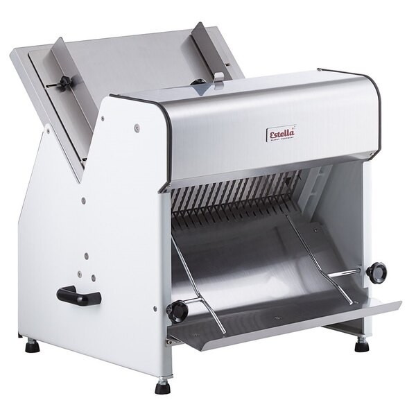 """Scratch and Dent Estella Countertop Electric Bread Slicer - 1"""" Cutting Width 110V, 1/4 hp Main Image 1"""