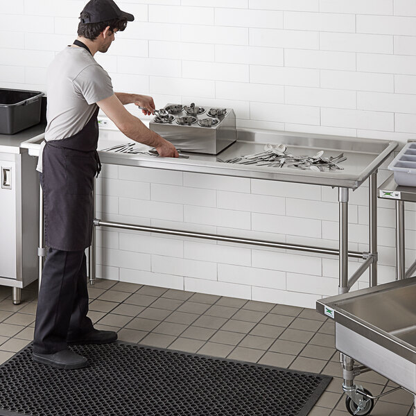 """Scratch and Dent Regency 30"""" x 72"""" 16-Gauge Type 304 Stainless Steel Sorting Table Main Image 1"""